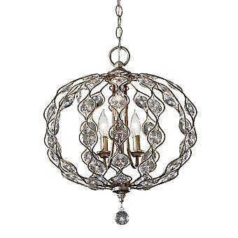 Leila Three Light Chandelier - Elstead Lighting