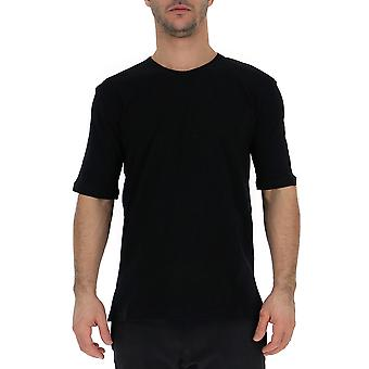 Laneus Black Cotton T-shirt