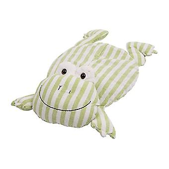 Childrens Stripey Heatable Cherry Pit Pillow: Frog