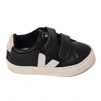 Veja Kids Esplar Small Black Trainer, Black Sable