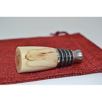 Wood Wine Stop Wine Closure Wine Stoepsel Wine Plug bottle closure wood stainless steel Thuja Tree of LifeHandmade unique gift idea gift gift