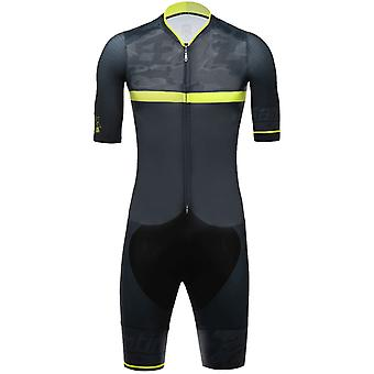 Santini Yellow 2018 River Skin C3 Short Sleeved Cycling Suit