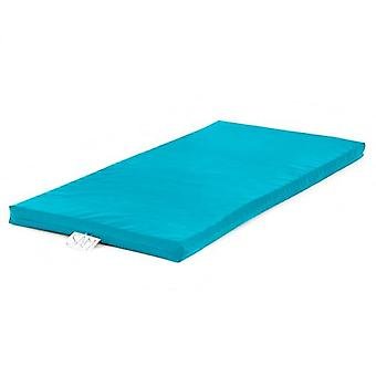 Children's Faux Leather Foam Nap Mat with Name Tag - Turquoise