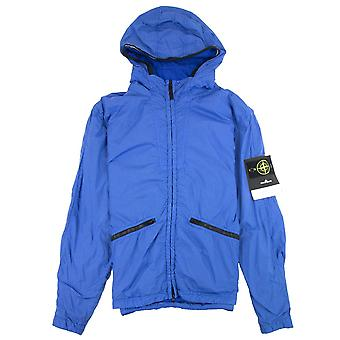 Stone Island 41030 Garment Dyed Crinkle Reps Ny Jacket Blue V0043