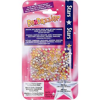 Be Dazzler Stud Refill 200 Pkg Stars Gold & Silver Bdzs