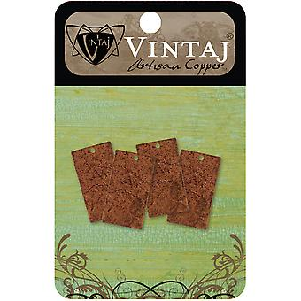 Vintaj Metal Altered Blanks 4 Pkg Small Rectangle 22.5Mmx12.5Mm Chw0002r