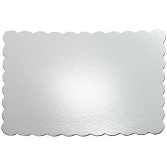 Gâteau Platters 13 « X 19 » argent Rectangle 4 Pkg Wscp 1169