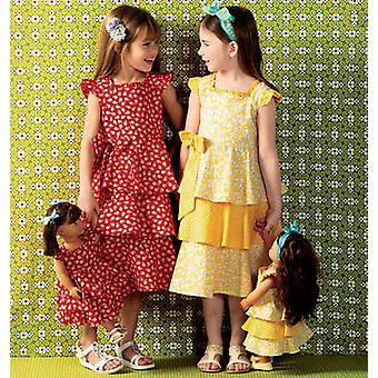 Girls' Doll's Dresses  Pattern K0144