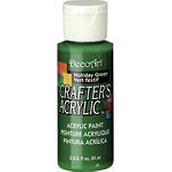 Crafter's Acrylic Gloss All Purpose Paint 2 Ounces Holiday Green Dcag 104