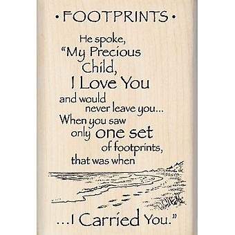 Inkadinkado Wood Mounted Rubber Stamp X Footprints Stampx 95201