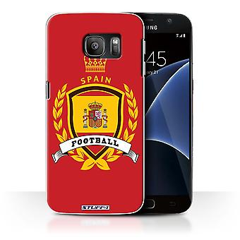 STUFF4 Case/Cover for Samsung Galaxy S7/G930/Spain/Spanish/Football Emblem