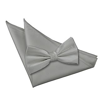 Cocher Solid Silver Bow Tie 2 pc. Ensemble