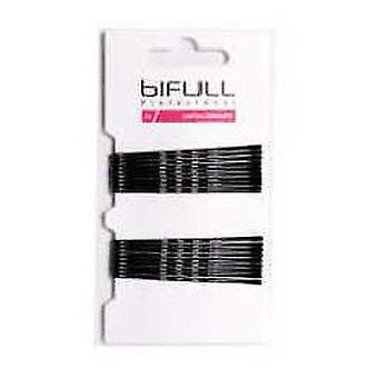 Bifull Black Wavy Clip 59mm 18 Units (Woman , Hair Care , Hair Accessories , Clothespin)