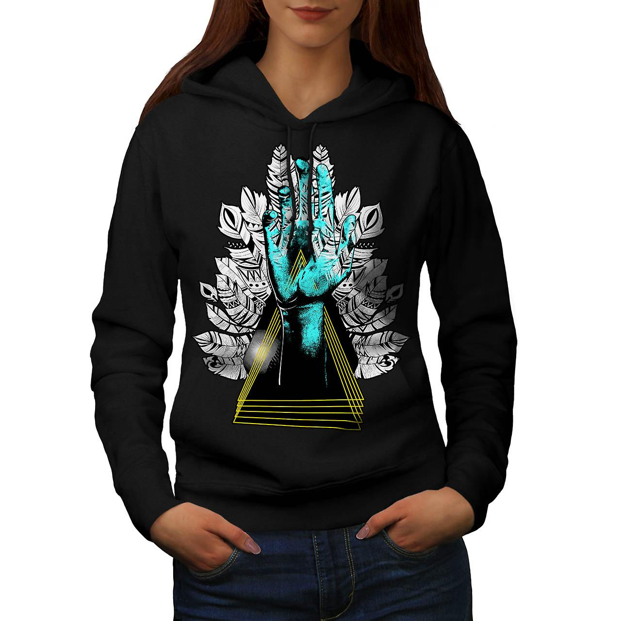 Sublime Nature Fashion Women Black Hoodie | Wellcoda