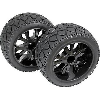 Absima 1:10 Buggy Wheels Tarmac forward 5-spoke Black 1 pair