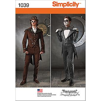 SIMPLICITY MEN'S COSPLAY COSTUMES-38-40-42-44 US1039AA