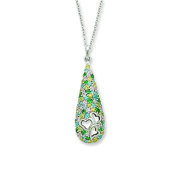 Sterling Silver CZ Cheerdrops 18 pouces collier