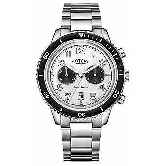 Rotary Mens Ocean Avenger Chronograph White Dial GB05021/18 Watch
