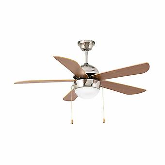 "Faro ceiling fan Veneto matt nickel 107 cm / 42"" with lighting"