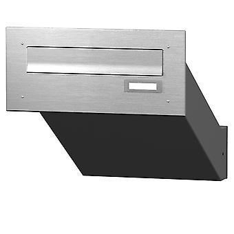 Max Knobloch stainless steel wall impact letterbox MD10-OR-E (1 x 12 litres)