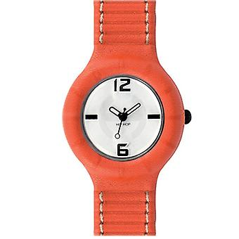 Hip Hop Uhr Silikonuhr leather small HWU0201 arancio