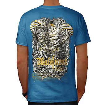 Maleficent Owl Bird Hawk Prey Men Royal Blue T-shirt Back | Wellcoda