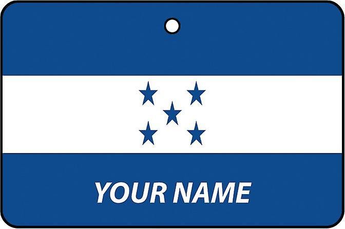 Honduras Flag Personalised Car Air Freshener