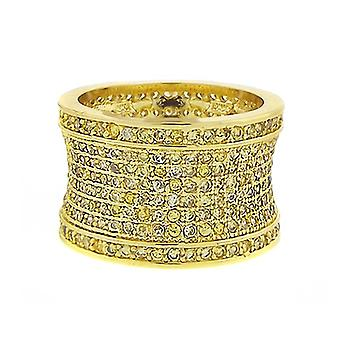 Iced out bling micro pave ring - FREEDOM gold