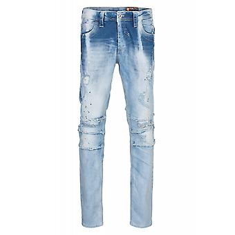 CIPO & Baxx destroyed trousers mens jeans blue slim fit
