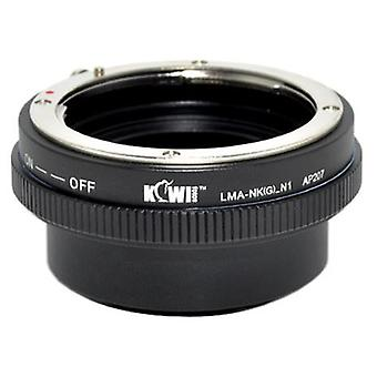 Kiwifotos Lens Mount Adapter with Aperture Control Ring: Allows Nikon G type lenses to be used on any Nikon 1 Series mirrorless camera