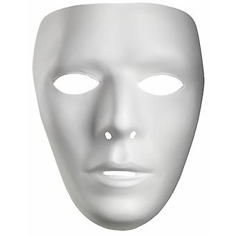 Blank Male Drama Costume White PVC Men Mask