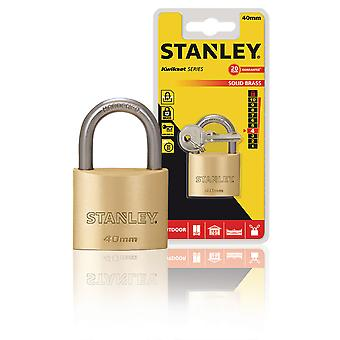 Stanley Padlock Solid Brass 40 mm
