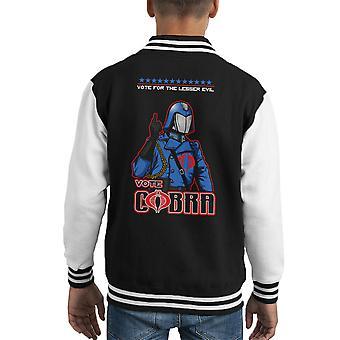 GI ジョー投票コブラ ・ コマンダーあまり邪悪な子供のバーシティ ジャケット