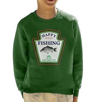 Happy Fishing Over 2500 Varieties Kid's Sweatshirt