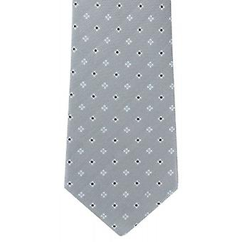 Michelsons of London Mini Neat Silk Tie - Grey