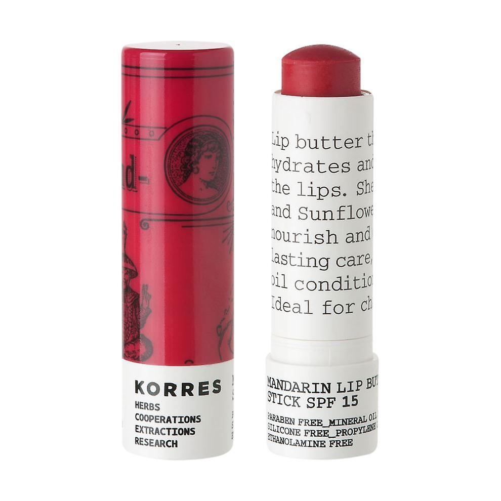 Korres Rose Mandarin Lip Butter Stick SPF15 5g