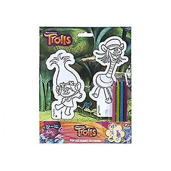 Trolls Pop Out Friends Figure Colouring Pack