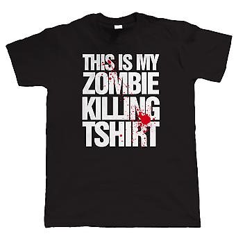 Vectorbomb, This Is My Zombie Killing T Shirt, Mens Horror T Shirt (S to 5XL)