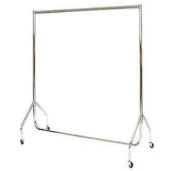 Stylish Deluxe 4' All Chrome Garment Rail, Stronger than Normal Frame