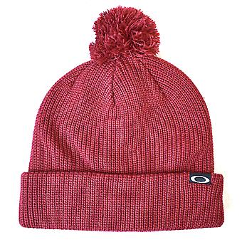 Oakley Riviera Pom Beanie - Iron Red