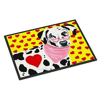 Carolines Treasures  AMB1116MAT Hearts and Dalmatian Indoor or Outdoor Mat 18x27