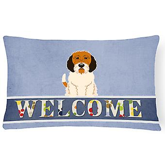 Petit Basset Griffon Veenden Welcome Canvas Fabric Decorative Pillow
