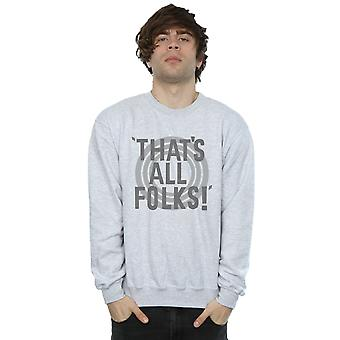 Looney Tunes Men's That's All Folks Text Sweatshirt