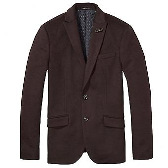 Scotch & Soda Quilt Lined Knitted Blazer Jacket