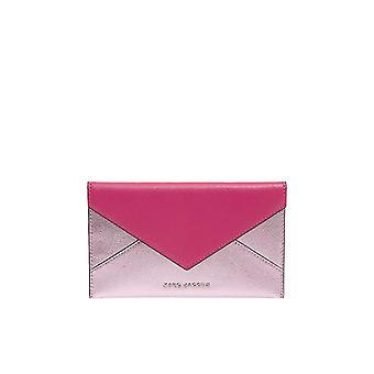 Marc Jacobs women's M0010215PINK pink leather clutch