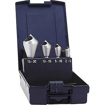 Diagonal hole countersink set 4-piece 10 mm, 14 mm, 21 mm, 28 mm HSS-E