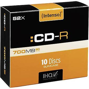 En blanco CD-RW 80 700 MB Intenso 1001622 10 PC