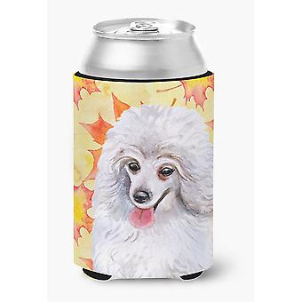 Carolines Treasures  BB9944CC Medium White Poodle Fall Can or Bottle Hugger
