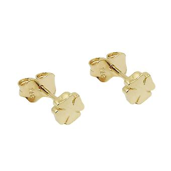 Stud earrings cloverleaf 9k gold