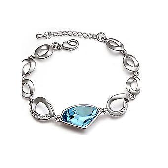 Womens Fashion armband hemelsblauw grote steen kristal sieraden Mix en Match